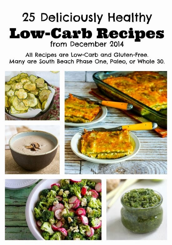 25 Deliciously Healthy Low-Carb Recipes from December 2014 (Gluten-Free, SBD, Paleo, Whole 30) found on KalynsKitchen.com