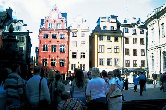 Stoccolma piazza principale con persone