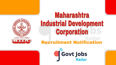 MIDC recruitment notification 2019, govt jobs in Maharashtra, govt jobs in india, govt jobs for graduates, govt jobs for iti