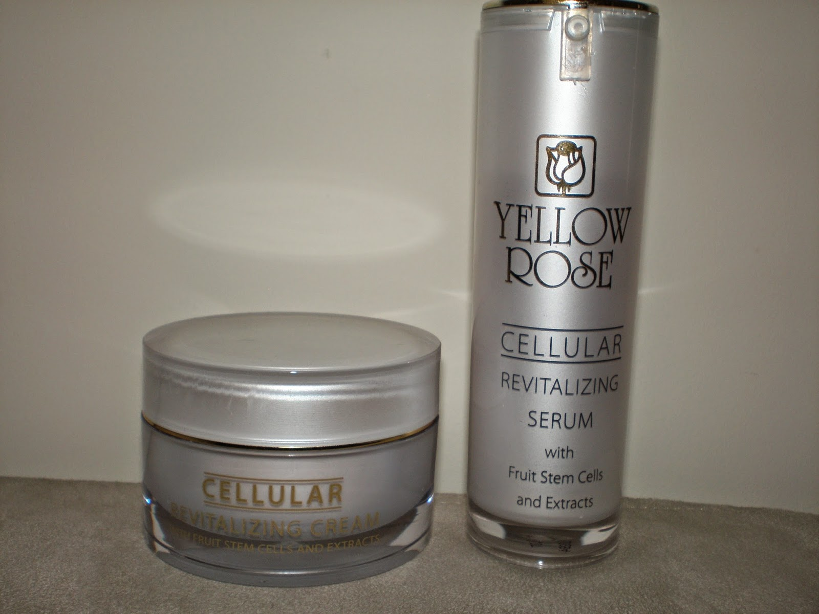 Yellow rose revitalizing cream and serum