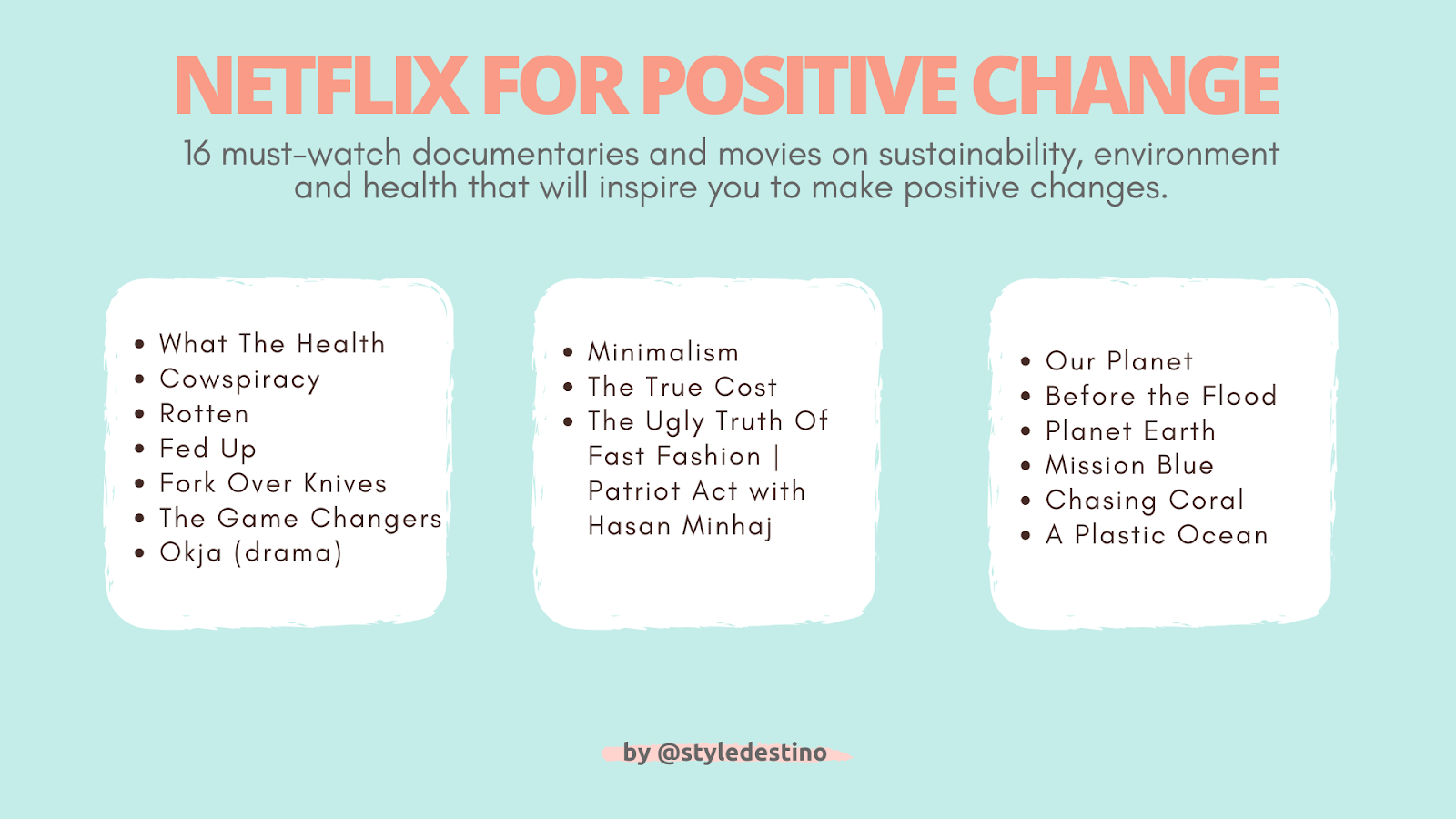 Best Sustainable Documentaries on Netflix - Must-Watch Netflix Documentaries for Vegans