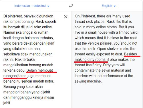 terjemahan bahasa inggris