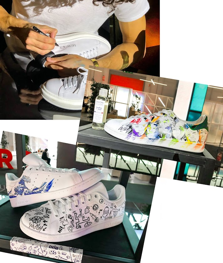 Customisation de baskets x Sneakers & Chill