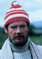 Moore in striped bobble hat in North Sea Hijack