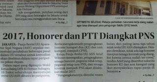 2017, honorer dan PTT diangkat PNS