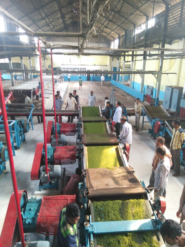 Manufacturing process inside Factory