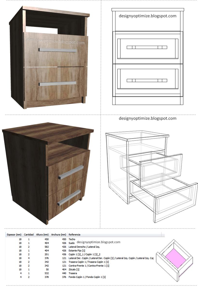 Dise o de muebles madera mesas de noche mesas for Mesas de noche de madera