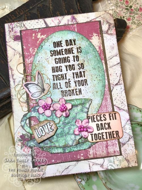 Sara Emily Barker https://sarascloset1.blogspot.com/2020/04/a-card-for-mom.html Mixed Media #distressembossingglazes #prima #prettymosaic 1