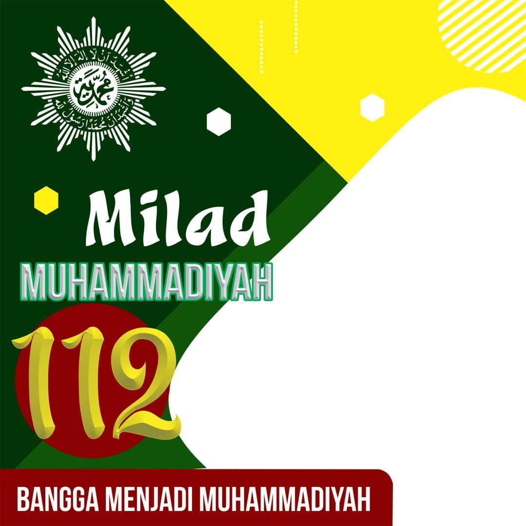 Template Background Bingkai Foto Twibbon Milad Muhammadiyah 2021