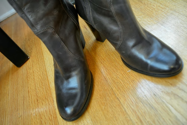 ebay tall brown boots