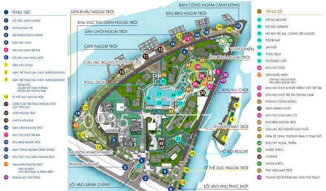 vị trí các tiện ích dự án Đảo Kim Cương