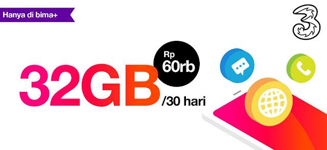 Cara Daftar Paket 32GB Tri 60rb Yang Hilang atau Gagal Diperpanjang Terbaru