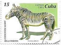 Selo Zebra-de-Grevy, Cuba