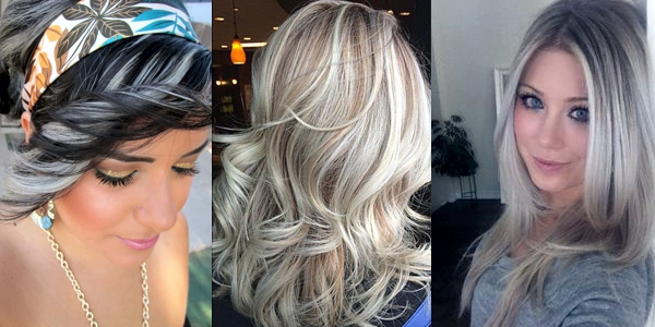 Black With Silver Hair Highlights