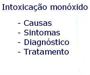 Intoxicação por monóxido de carbono causas sintomas diagnóstico tratamento prevenção riscos complicações