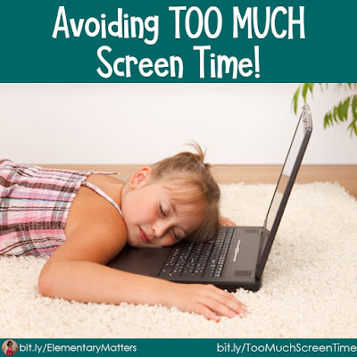 Avoiding TOO MUCH Screen Team: Technology is fabulous, and it's helping bridge education and communication during Social Distancing, but TOO MUCH is harmful. Here are some alternate activities to keep children offline. There's even a freebie!