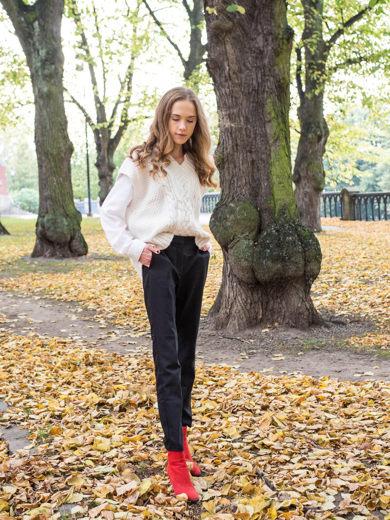 Inspiraatiota syyspukeutumiseen: neuleliivi - Autumn fashion inspiration: knitted vest