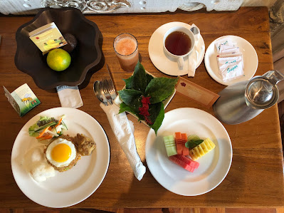 breakfast at the Royal Pita Maha Resort, Ubud, Bali, Indonesia