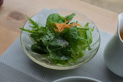 安曇野サロン・ド・テ フルーヴ ひとつ石のメニュー開発 サラダ