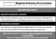 JOBS | Quantity Surveyor - Karachi