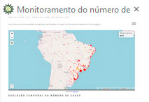 Mapa com Casos por Município (UFV)