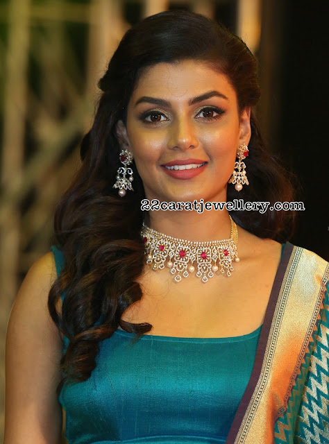 Anisha Amborse Diamond Choker Jhumkas