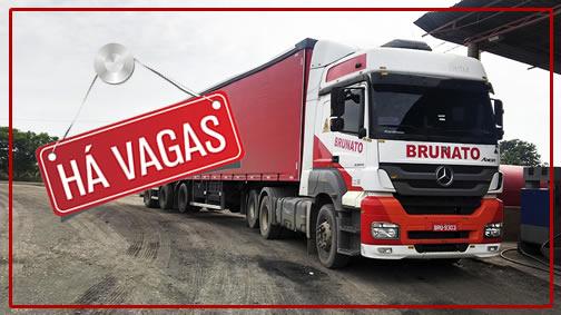 Transportes Brunato abre vagas para carreteiro