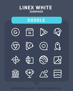LineX White Icon Pack v1.3 [Patched] APK