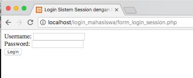 cara membuat sistem login mahasiswa