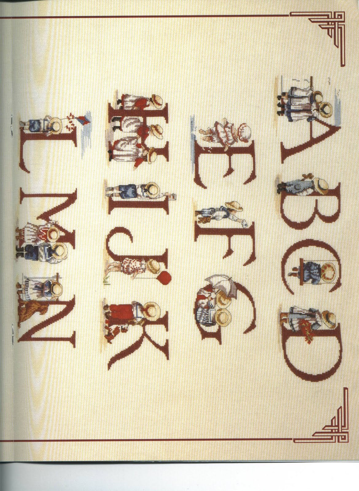 Punto croce all our yesterdays aoy alfabeto for Alfabeto a punto croce per neonati