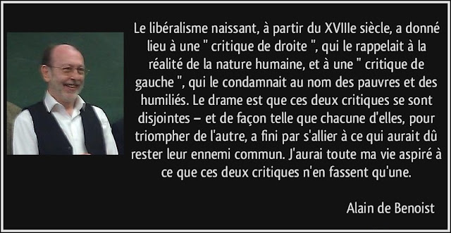 Alain de Benoist citations libéralisme