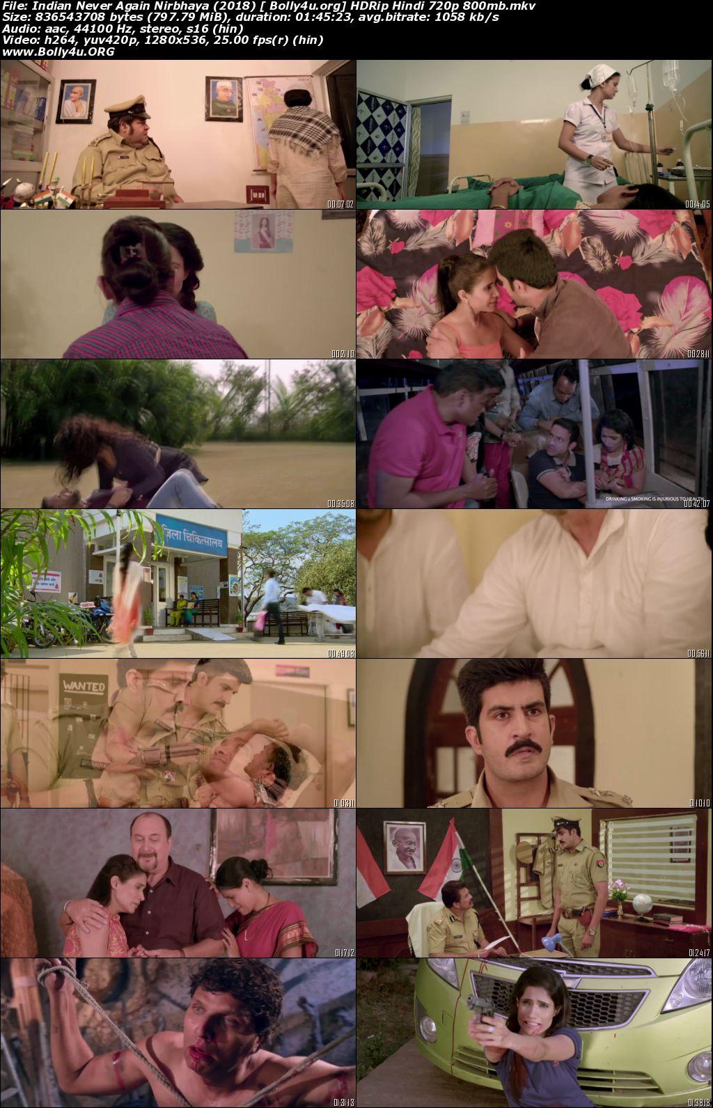 Indian Never Again Nirbhaya 2018 HDRip 350Mb Hindi 480p Download
