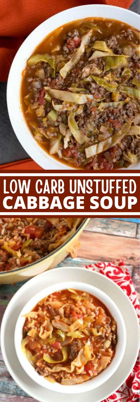 Low Carb Unstuffed Cabbage Soup #healthy #keto #glutenfree #diet #soup