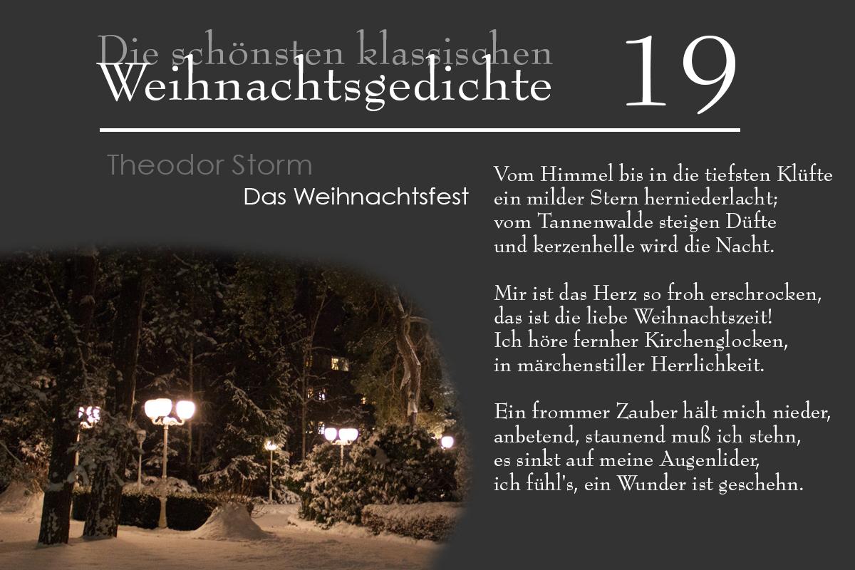 Storm Weihnachtsgedichte.Mein Usedom Das 19 Türchen Theodor Storm Das Weihnachtsfest