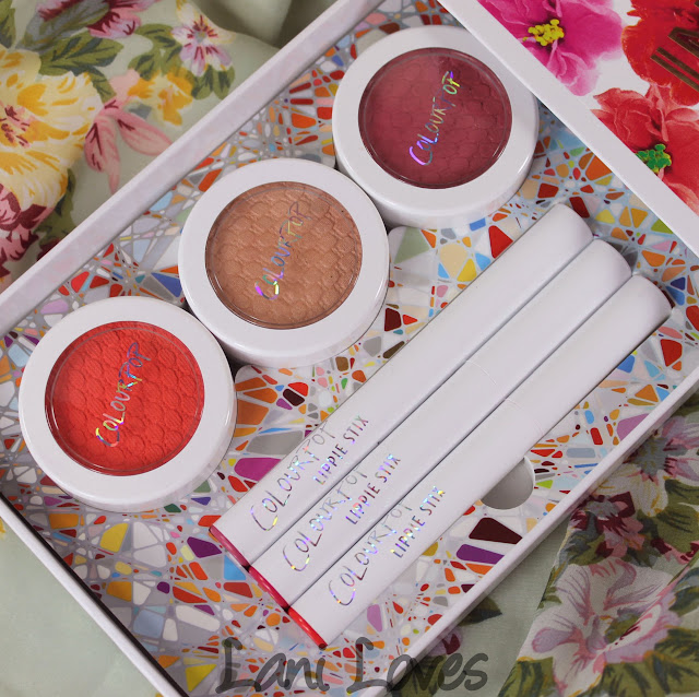 Colourpop In Bloom Set Swatches & Review