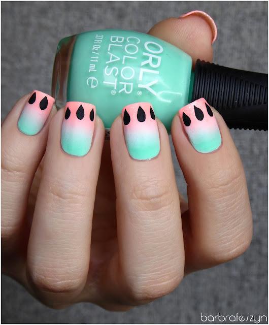 paznokcie arbuzy