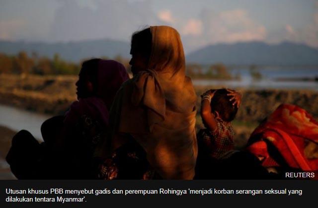 PBB: 'Perempuan Rohingya ditelanjangi, diperkosa beramai-ramai oleh tentara Myanmar'