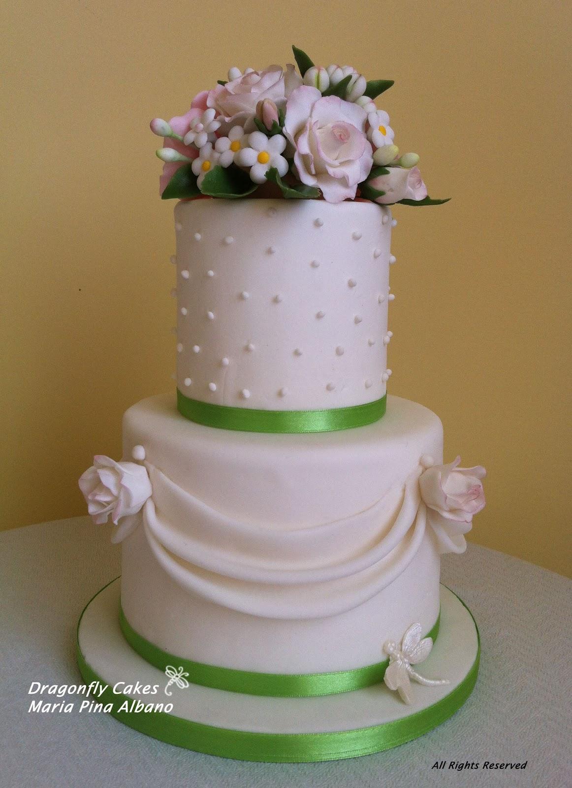 Famoso Dragonfly Cakes - Maria Pina Albano: Torta per promessa di matrimonio PQ35