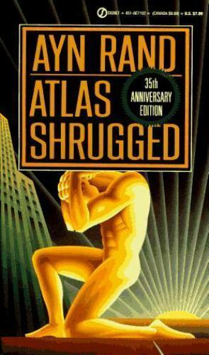 Ayn Rand - Atlas Shrugged -kirjan kansi