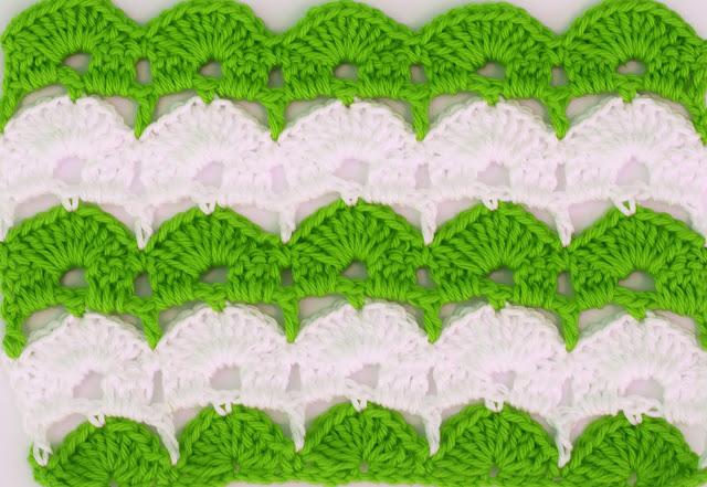 2 - Crochet Imagen Puntada de abanicos para blusas y jerseys por Majovel Crochet