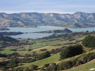 Península de Banks y Akaroa, en Nueva Zelanda