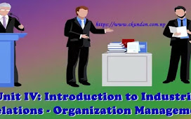Unit IV: Introduction to Industrial Relations - Organization Management