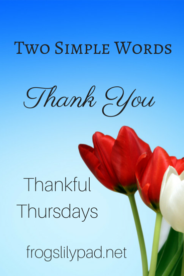 Two Simple Words - Thank You {Thankful Thursdays Linkup #8}