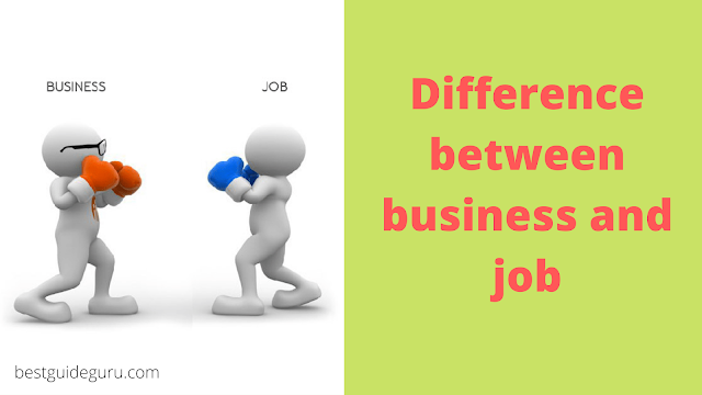 Difference between business and job
