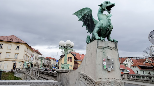 Dragon Bridge (Zmajski most) is beside the old town