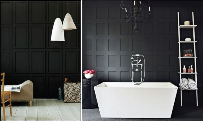 Our Dark DIYed Wainscoting Reveal