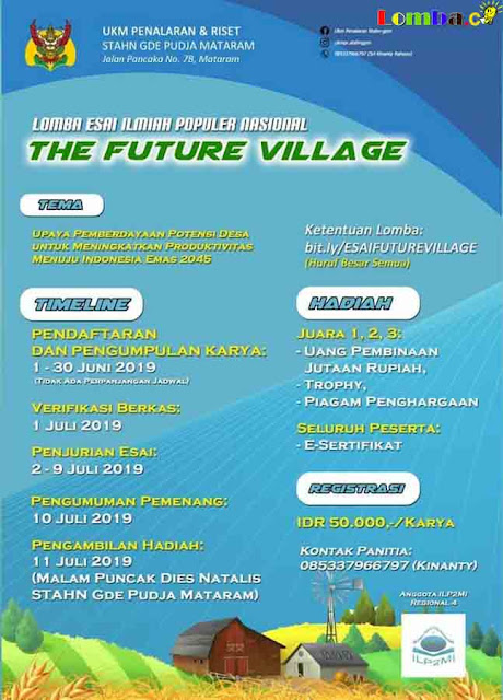 Lomba Essay Nasional The Future Village 2019 Untuk Umum
