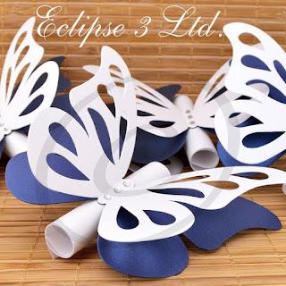 invito di nozze farfalla