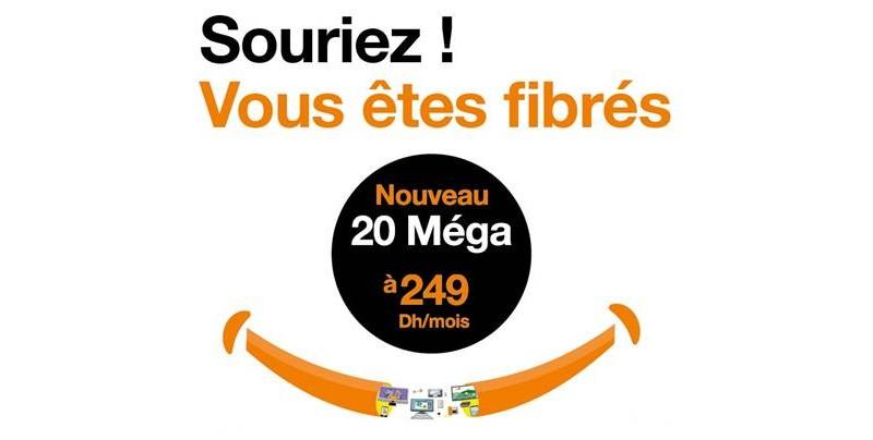 fibre orange maroc 20 mega