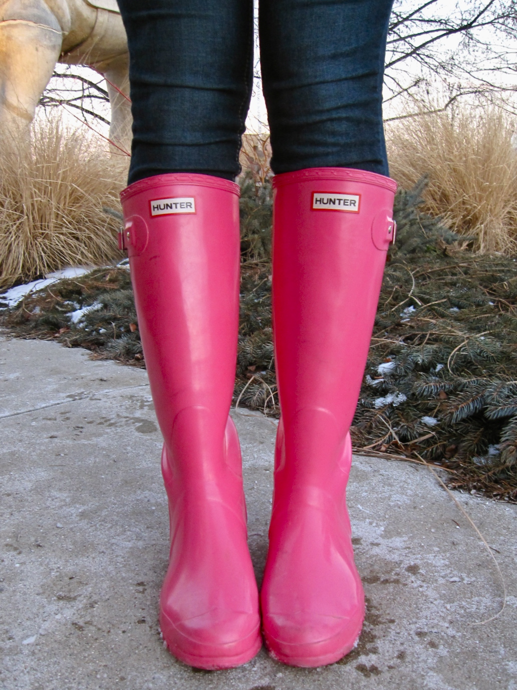 how to clean pink hunter boots